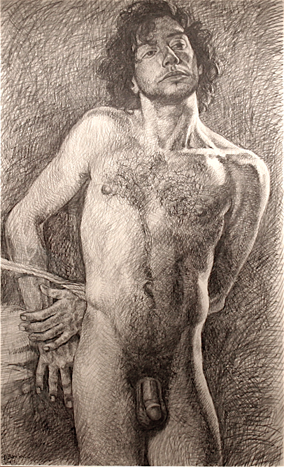 Kevin, Study for Sebastian